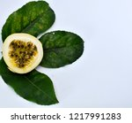 Passion Fruits And Green Leaves ...