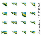 rwanda flag  vector... | Shutterstock .eps vector #1217992540