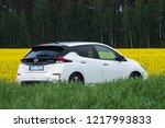 riga  may 2018   nissasn leaf   ...   Shutterstock . vector #1217993833