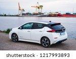 riga  may 2018   nissasn leaf   ...   Shutterstock . vector #1217993893