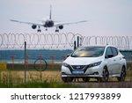riga  may 2018   nissasn leaf   ...   Shutterstock . vector #1217993899