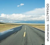 wild field highway    Shutterstock . vector #1217995420