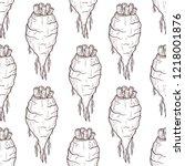 sugar beet. root. sketch.... | Shutterstock . vector #1218001876