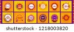 happy diwali festive design... | Shutterstock .eps vector #1218003820