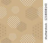 japanese template vector. brown ... | Shutterstock .eps vector #1218008143