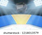 backgrounds of ice hockey arena ... | Shutterstock .eps vector #1218013579