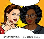 color pop art style...   Shutterstock . vector #1218014113