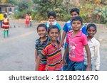 vari village  maharashtra ...   Shutterstock . vector #1218021670