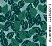 seamless pattern with leaves   Shutterstock .eps vector #1218030046