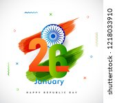 happy republic day celebration... | Shutterstock .eps vector #1218033910