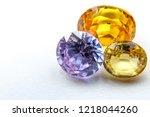 natural sapphire gemstone | Shutterstock . vector #1218044260