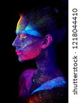 close up uv abstract portrait | Shutterstock . vector #1218044410