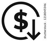 dollar arrow down rate decrease ... | Shutterstock .eps vector #1218045346