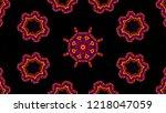 kaleidoscope design background | Shutterstock . vector #1218047059
