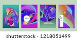 vector abstract 3d colorful...   Shutterstock .eps vector #1218051499