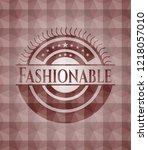fashionable red seamless emblem ... | Shutterstock .eps vector #1218057010