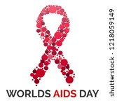 worlds aids day concept... | Shutterstock .eps vector #1218059149