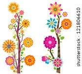 blooming trees | Shutterstock .eps vector #121806610