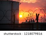 view of the petroluem and... | Shutterstock . vector #1218079816