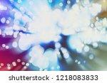 bokeh abstract texture.... | Shutterstock . vector #1218083833