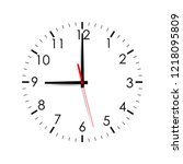 clock face mock up isolated on... | Shutterstock .eps vector #1218095809