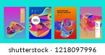vector abstract 3d colorful... | Shutterstock .eps vector #1218097996