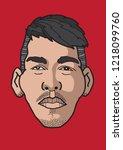 roberto bobby firmino is... | Shutterstock .eps vector #1218099760