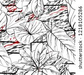tropical  stripe  animal motif. ...   Shutterstock .eps vector #1218105286