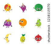 reside icons set. cartoon set... | Shutterstock .eps vector #1218115570