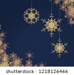 abstract snowflakes on colorful ... | Shutterstock . vector #1218126466