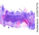 shades violet watercolor.image   Shutterstock . vector #1218170776