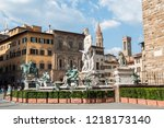 fountain of neptune   a... | Shutterstock . vector #1218173140