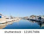 Marina With Yachts And Boats ...