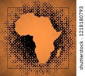 sketch blot dotty african... | Shutterstock .eps vector #1218180793