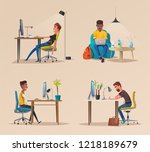 funny business character in the ... | Shutterstock . vector #1218189679