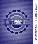 bathing costume with denim...   Shutterstock .eps vector #1218191623