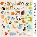 big vector set of animals.  | Shutterstock .eps vector #1218194260