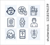 simple set of 9 icons related... | Shutterstock .eps vector #1218196159