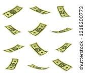 set of money   banknotes...   Shutterstock .eps vector #1218200773