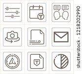 simple collection of interface... | Shutterstock .eps vector #1218202990