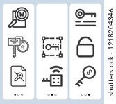 simple set of  9 outline icons... | Shutterstock .eps vector #1218204346