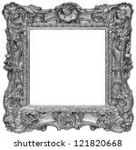 silver rustic photo frame | Shutterstock . vector #121820668