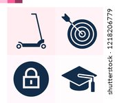 contains such icons as target ...   Shutterstock .eps vector #1218206779