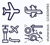 simple set of 4 icons related... | Shutterstock .eps vector #1218206983
