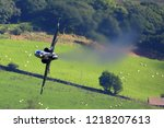 military training airplane... | Shutterstock . vector #1218207613