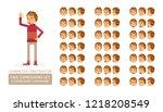 vector young adult man in... | Shutterstock .eps vector #1218208549