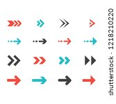 collection of arrow symbol | Shutterstock .eps vector #1218210220
