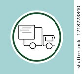 delivery truck line icon... | Shutterstock . vector #1218223840