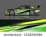 car decal wrap design vector.... | Shutterstock .eps vector #1218246586