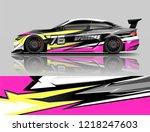 car decal wrap design vector.... | Shutterstock .eps vector #1218247603